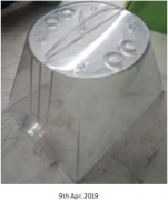 Transparent plastic parts for insect trap instrument